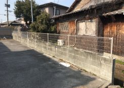 I様邸借家 境界フェンス設置工事