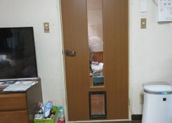 M様邸 ペット用ドア取付工事