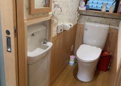 大牟田市 A様邸 トイレ手洗い器埋設工事